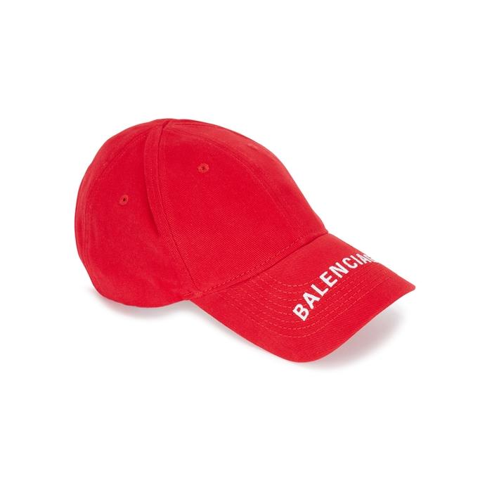 Balenciaga Logo-embroidered Cotton Twill Cap