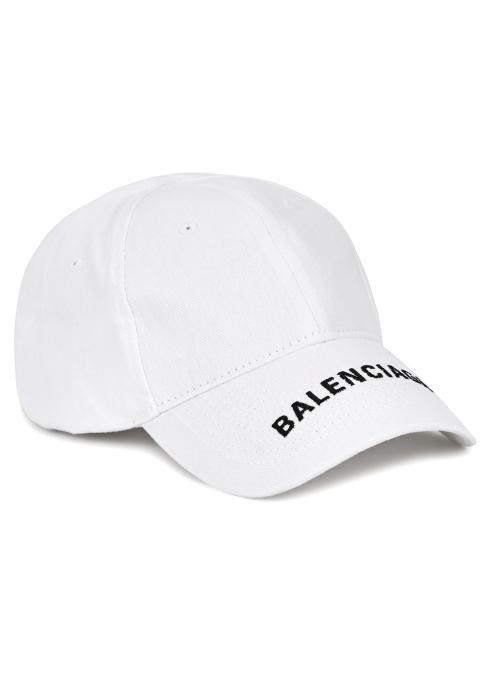 Balenciaga Logo-embroidered cotton twill cap - Harvey Nichols f29c1b543ec