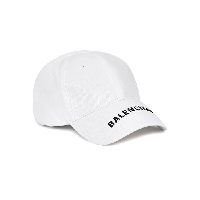 Balenciaga Logo-embroidered Cotton Twill Cap
