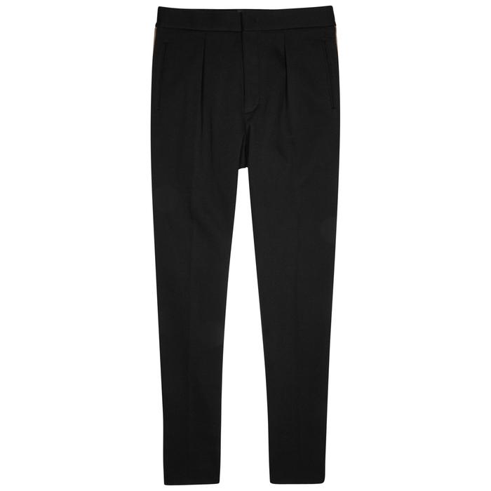 Fendi Black Cotton-blend Trousers