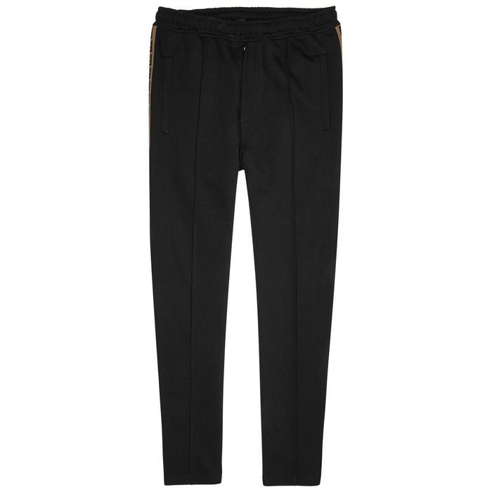 Fendi Black Cotton-blend Jogging Trousers
