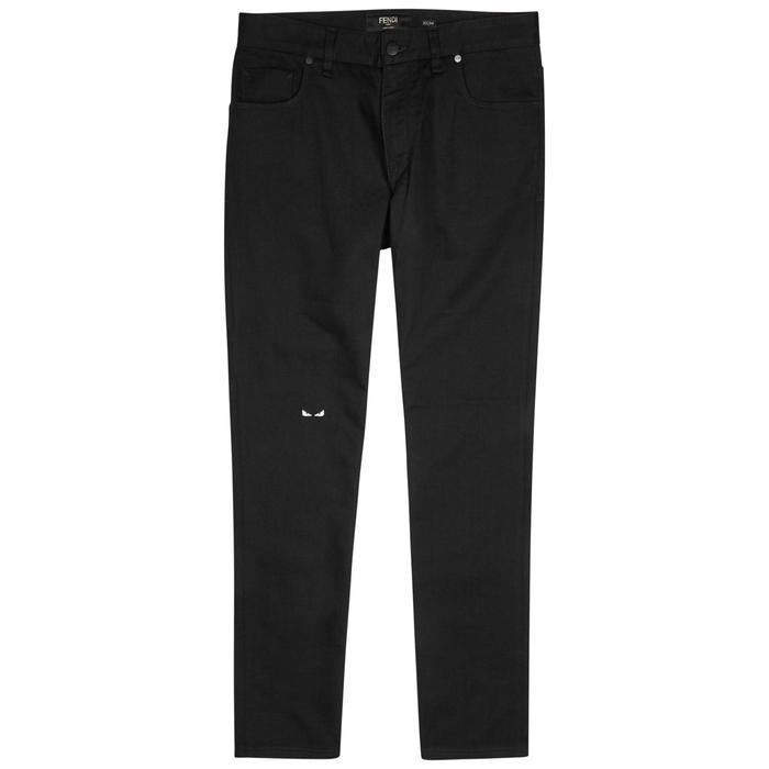 Fendi I See You Black Slim-leg Jeans