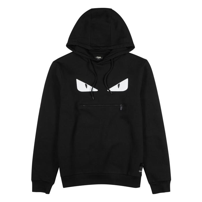 Fendi Monster Appliquéd Cotton Sweatshirt