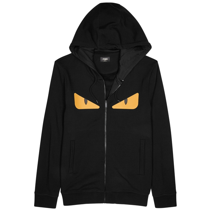 Fendi Monster Hooded Cotton Sweatshirt