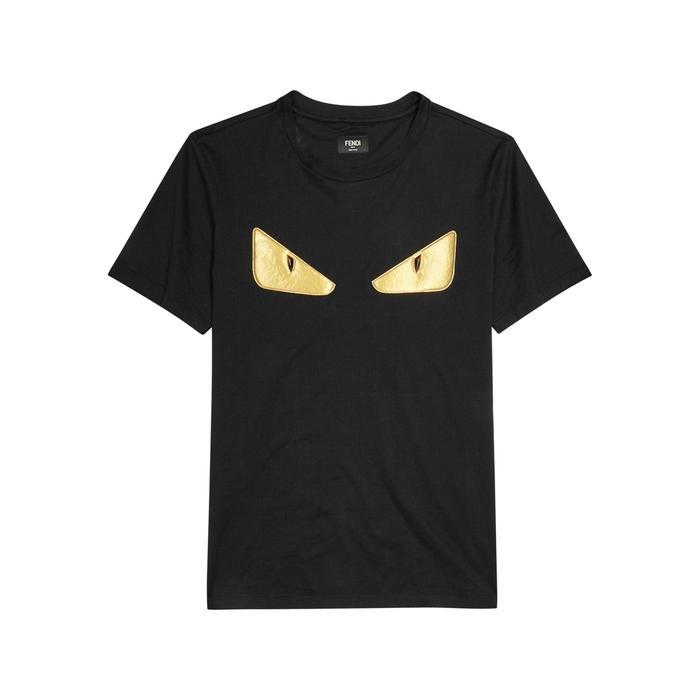Fendi Monster Black Cotton T-shirt