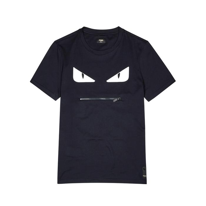 Fendi Monster Appliquéd Cotton T-shirt