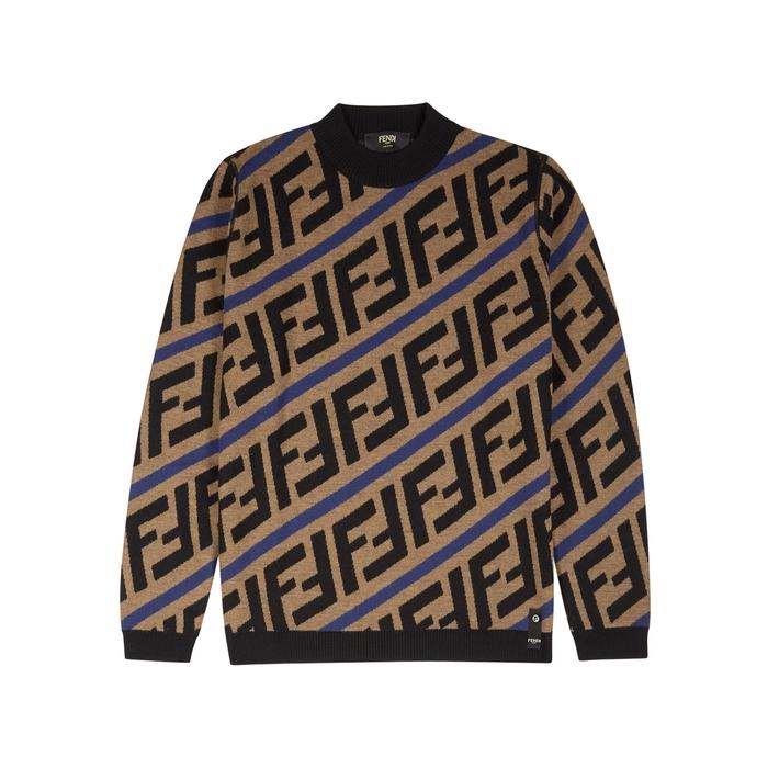 Fendi Logo-intarsia Wool Jumper