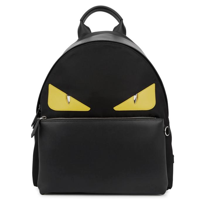 Fendi Monster Black Nylon Backpack