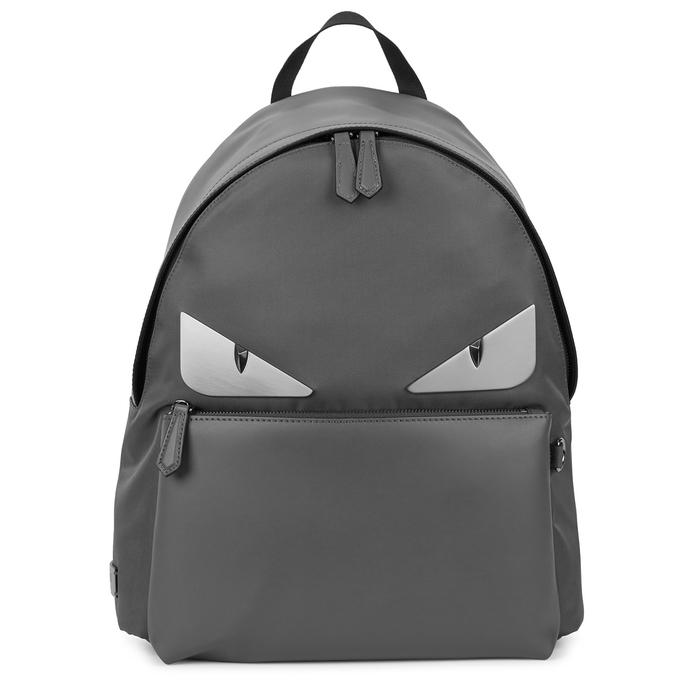 Fendi Monster Leather And Nylon Backpack