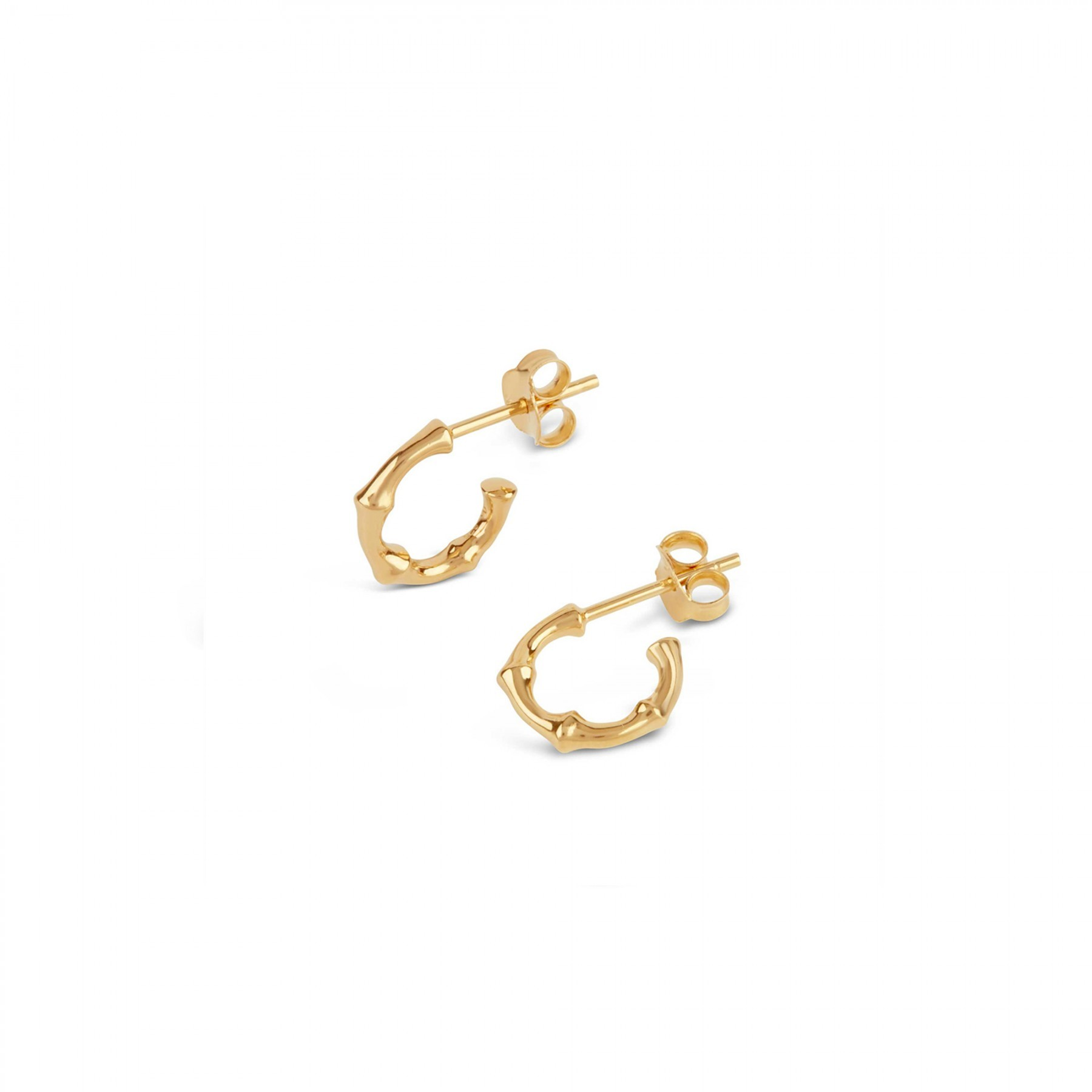 DINNY HALL GOLD MICRO BAMBOO HOOPS