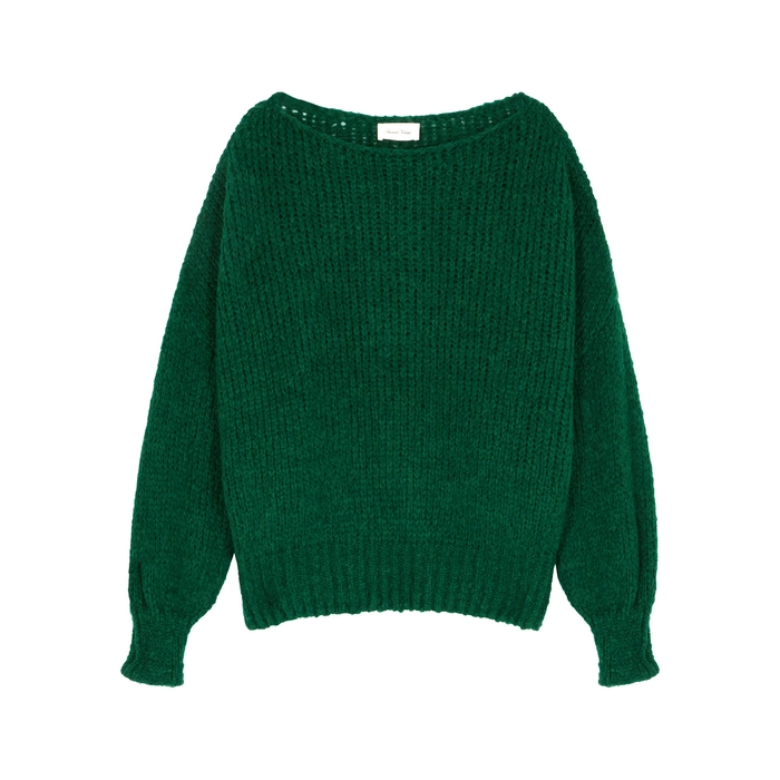 American Vintage BOOLDER GREEN CHUNKY-KNIT JUMPER