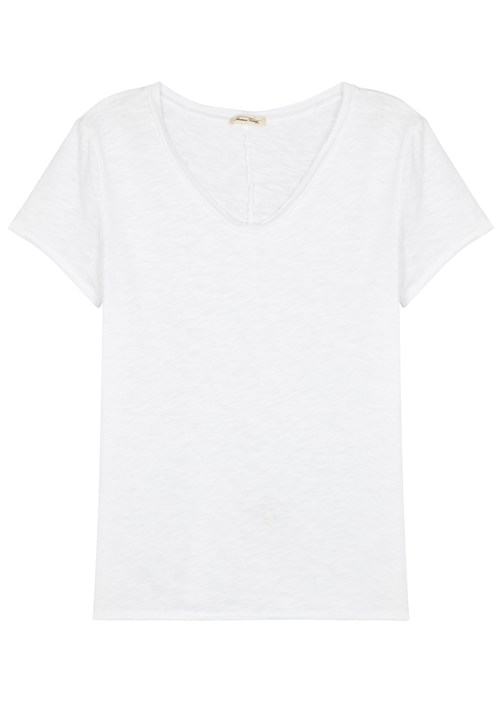AMERICAN VINTAGE SONOMA OFF-WHITE COTTON T-SHIRT