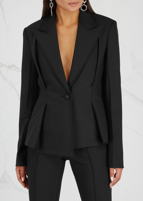 Black stretch-cady blazer - Helmut Lang