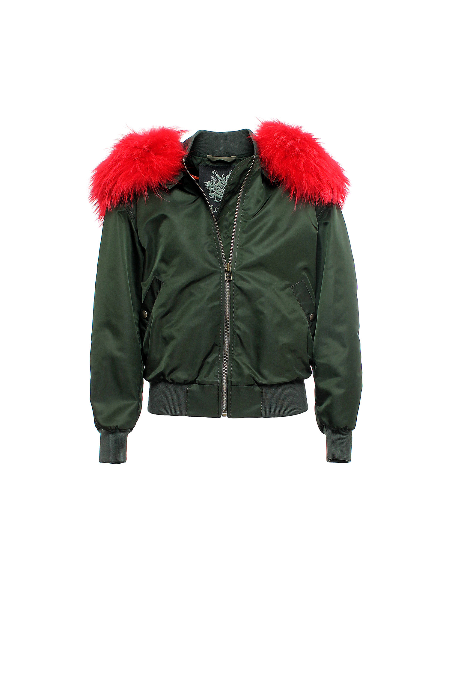 BOMBER ORIGINAL FIT NYLON RACCOON FUR
