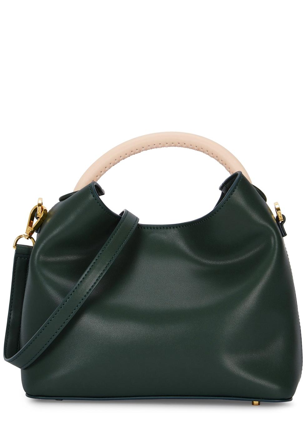 ELLEME Baozi Green Leather Shoulder Bag