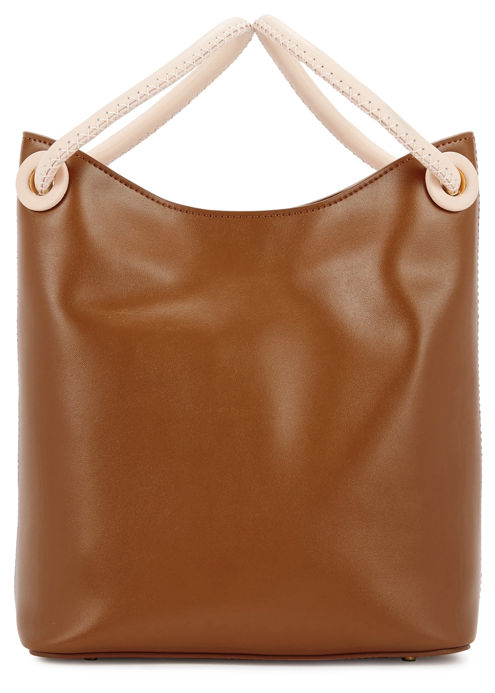 ELLEME VOSGES SMALL BROWN LEATHER TOTE