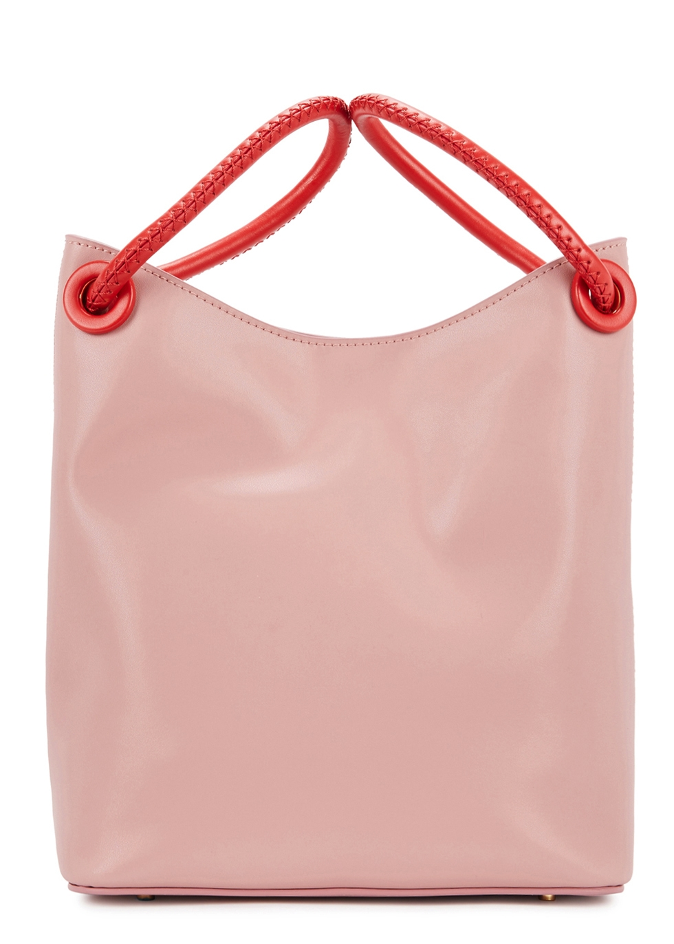 ELLEME VOSGES SMALL PINK LEATHER TOTE