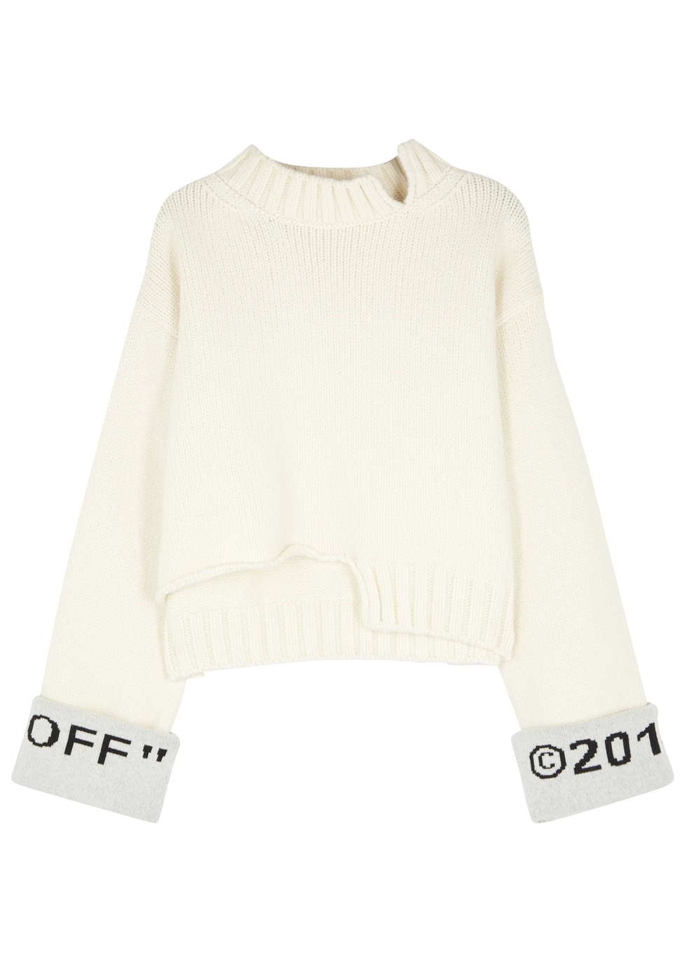 Get To Buy For Sale Cheap Huge Surprise Intarsia Knitted Top - IT38 Off-white Classic Sale Online Cheap With Mastercard NOq35h5t
