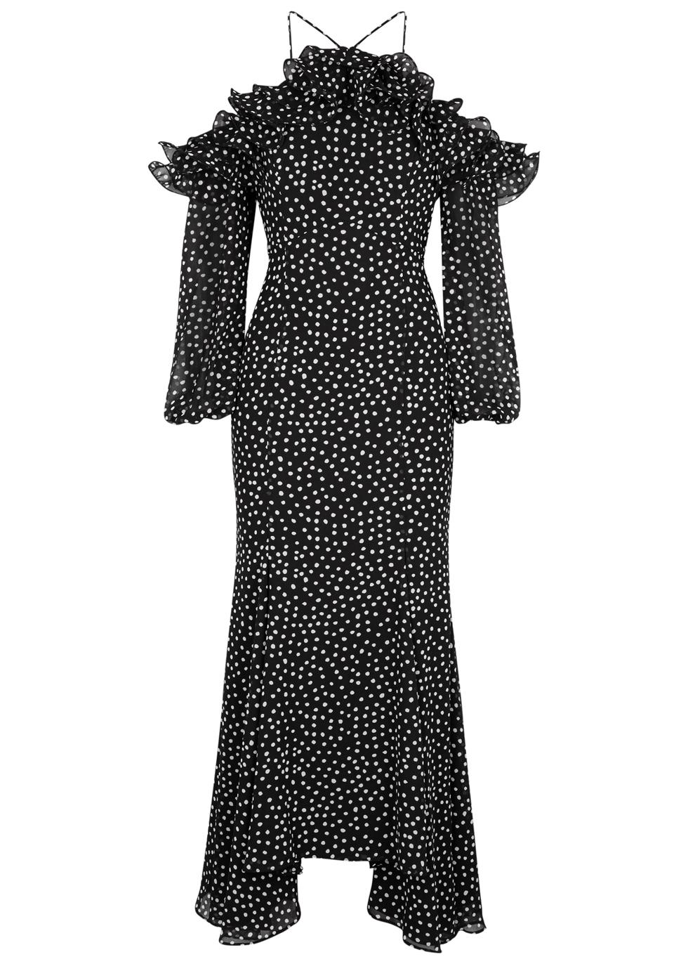 MOONSHINE RUFFLE-TRIMMED GEORGETTE DRESS
