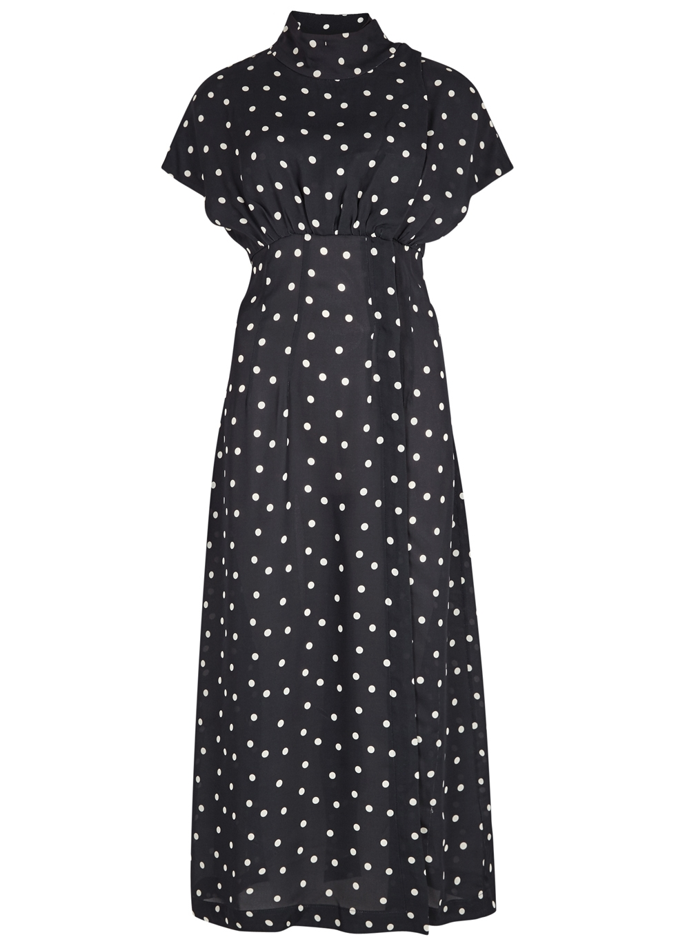 DOT POLKA-DOT MIDI DRESS