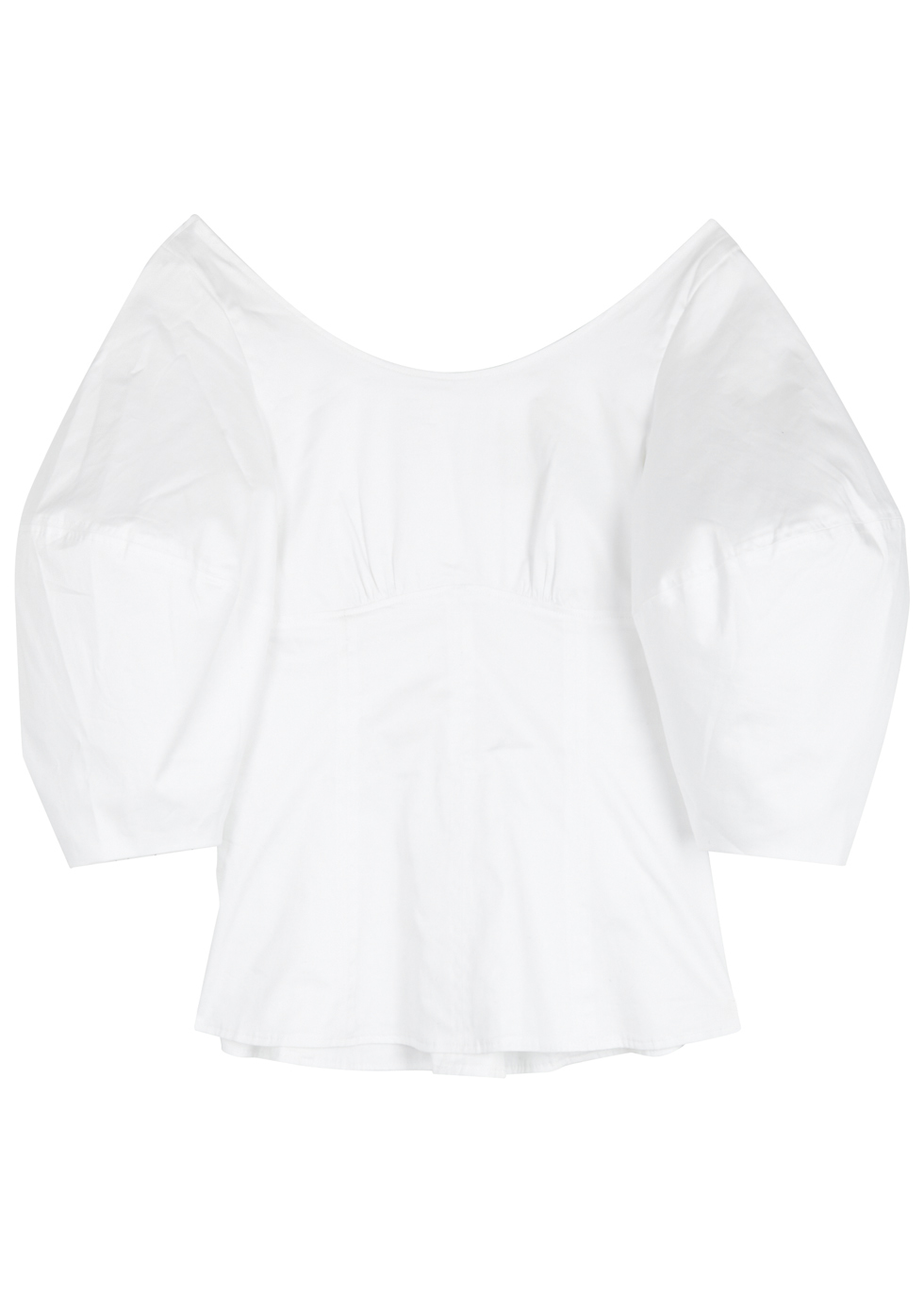PAPER LONDON SALT LAKE WHITE STRETCH-COTTON TOP
