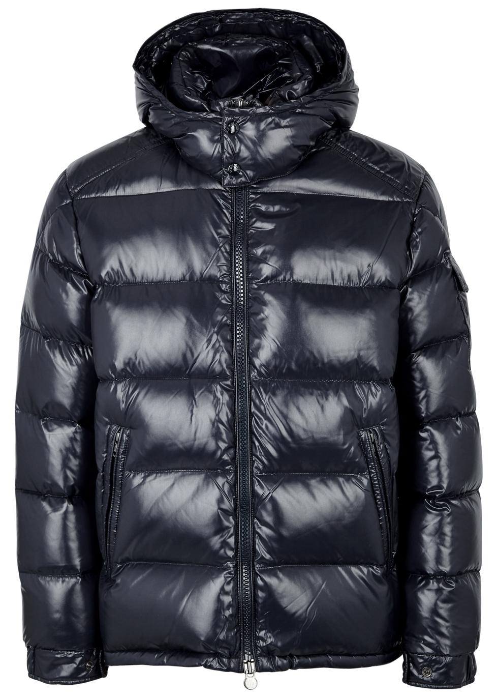 Maya navy quilted shell jacket - Moncler