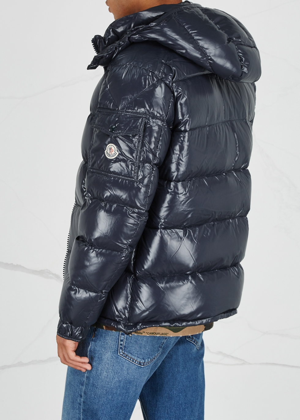Maya navy quilted shell jacket - Moncler