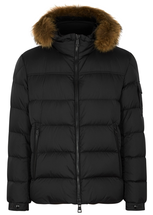 Moncler Marque fur-trimmed shell jacket - Harvey Nichols c362870f77f