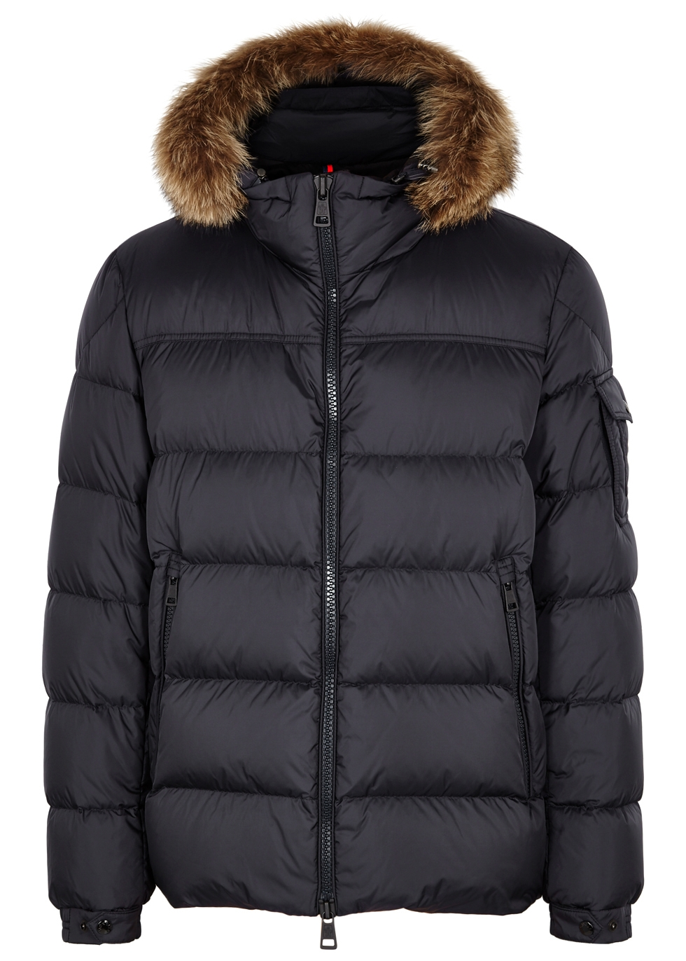 Marque fur-trimmed shell jacket - Moncler