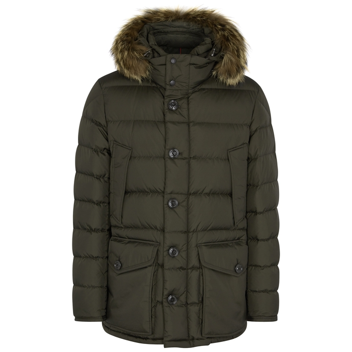 Moncler Cluny Fur-trimmed Shell Jacket