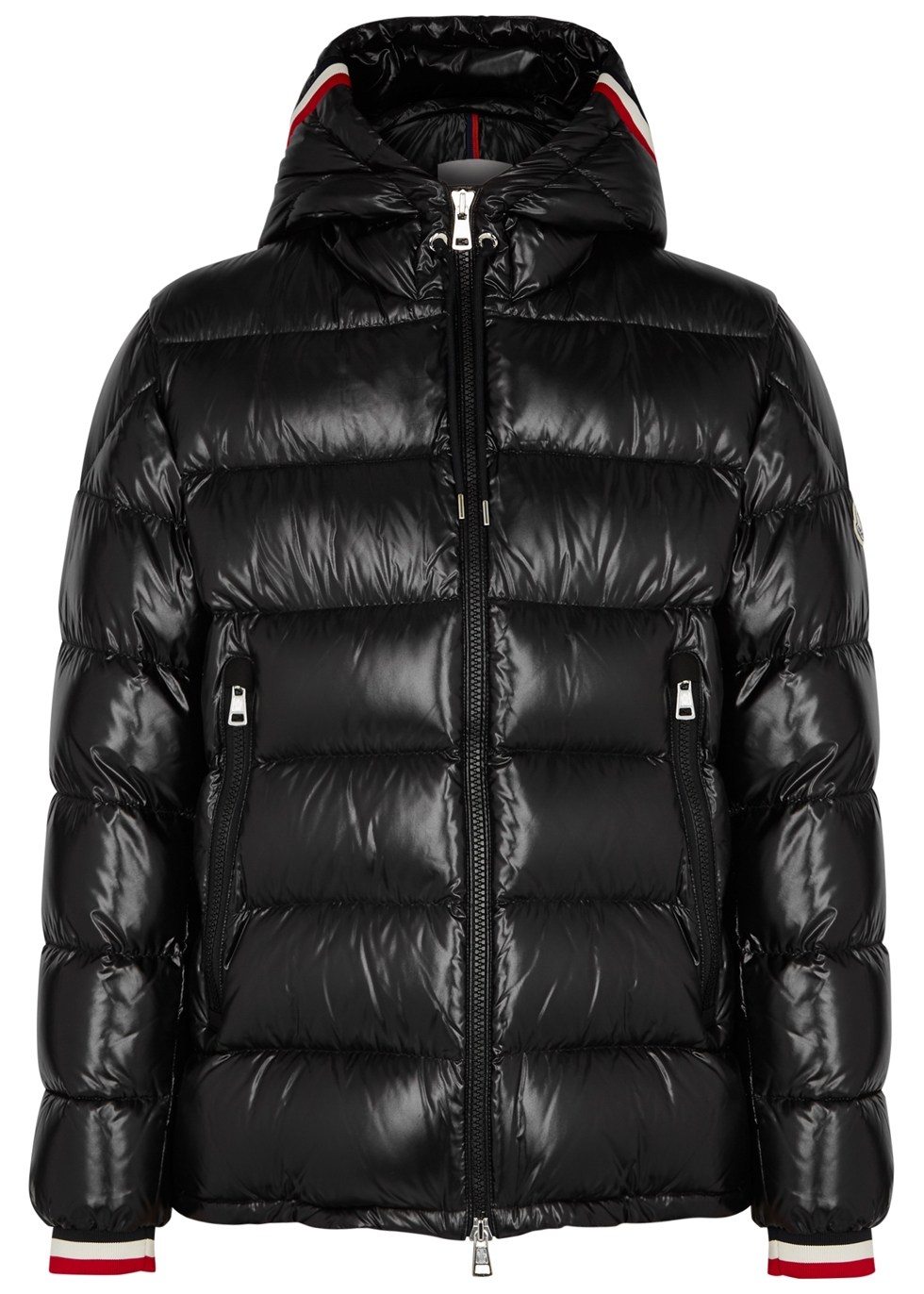 Alberic black quilted shell coat - Moncler