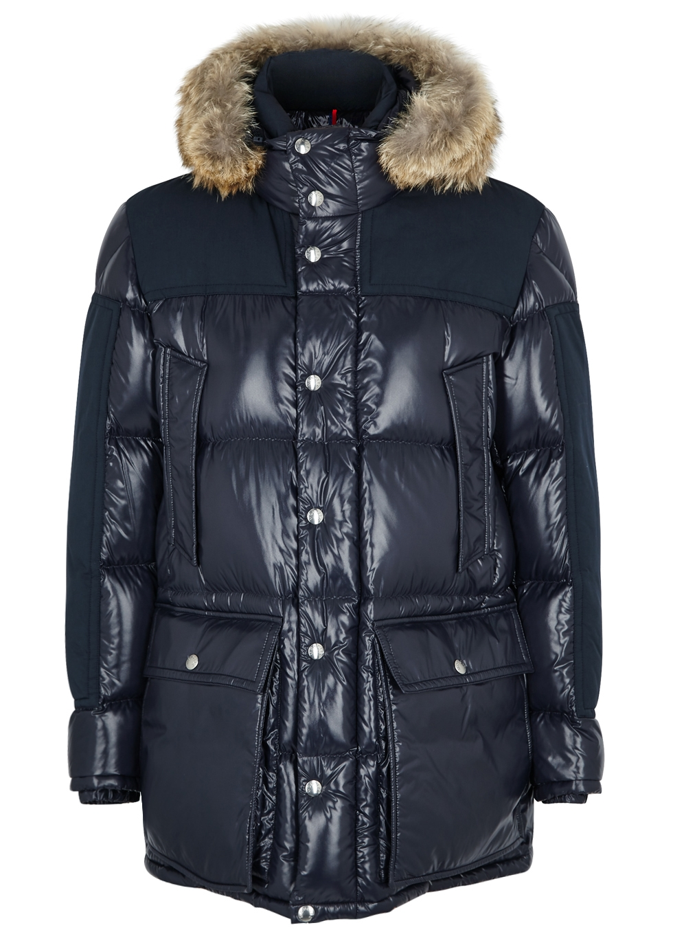 eba4c9185119 Moncler Frey navy quilted shell coat - Harvey Nichols