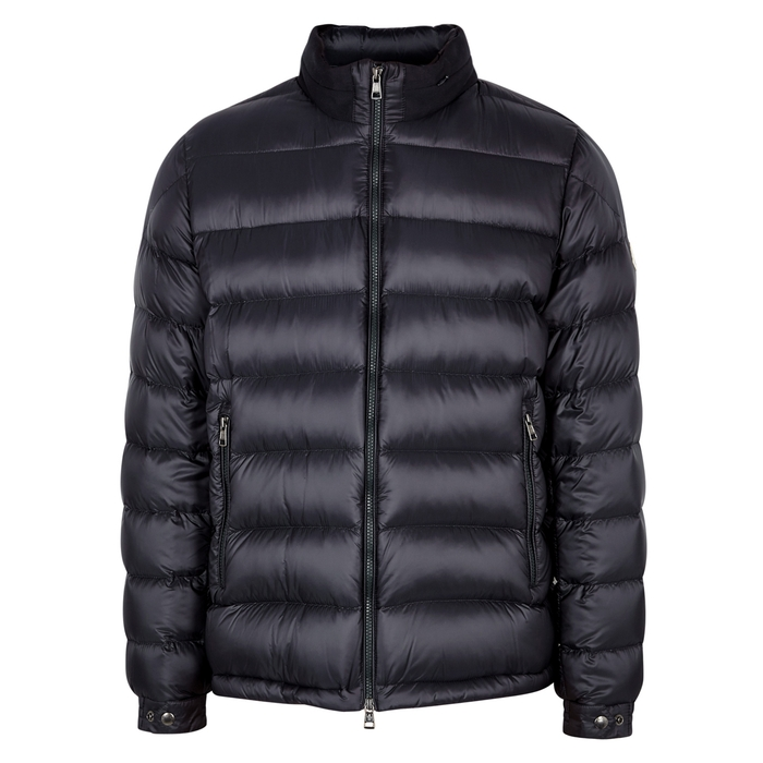 Moncler Rodez Navy Quilted Shell Jacket