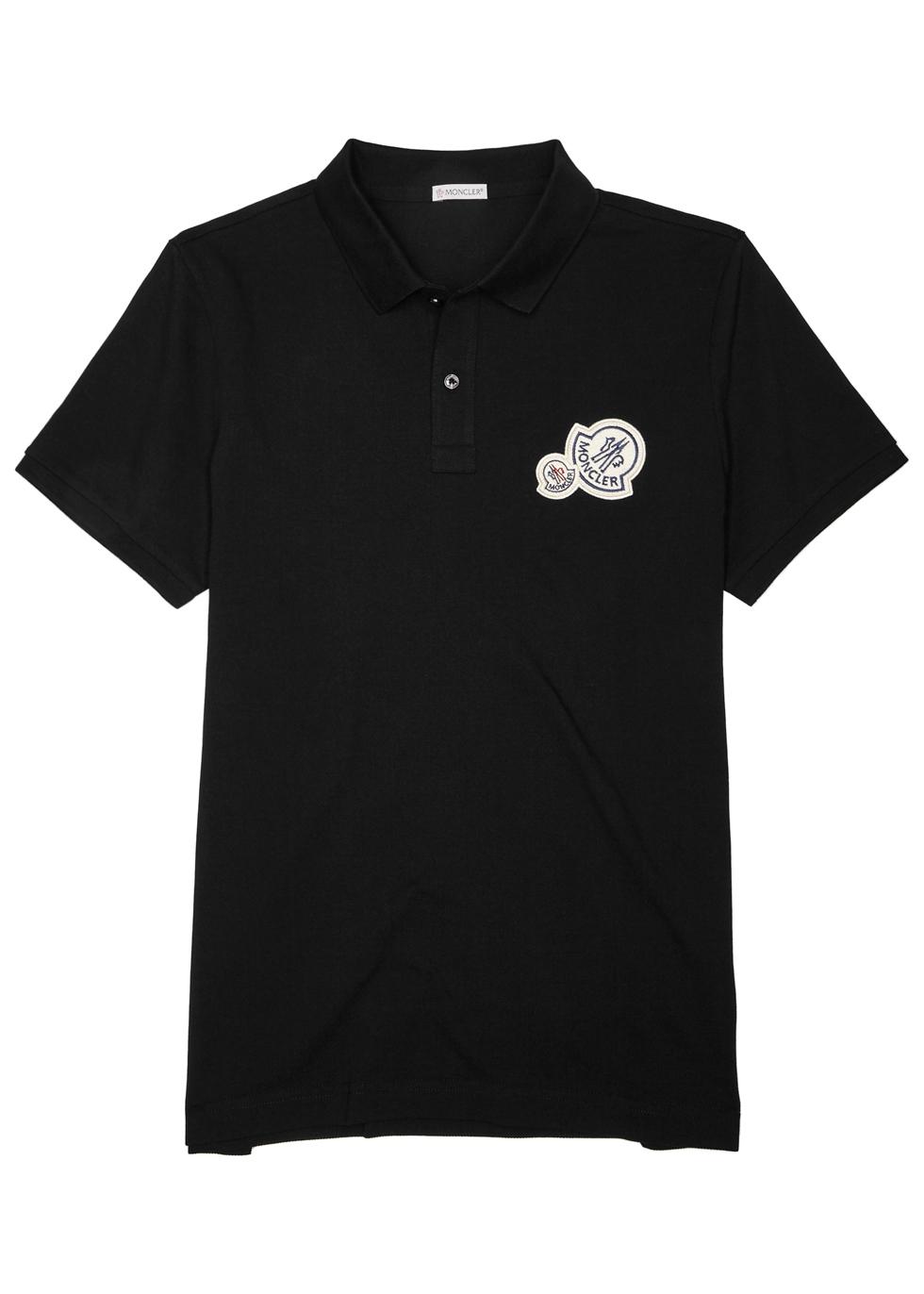 moncler black polo shirt