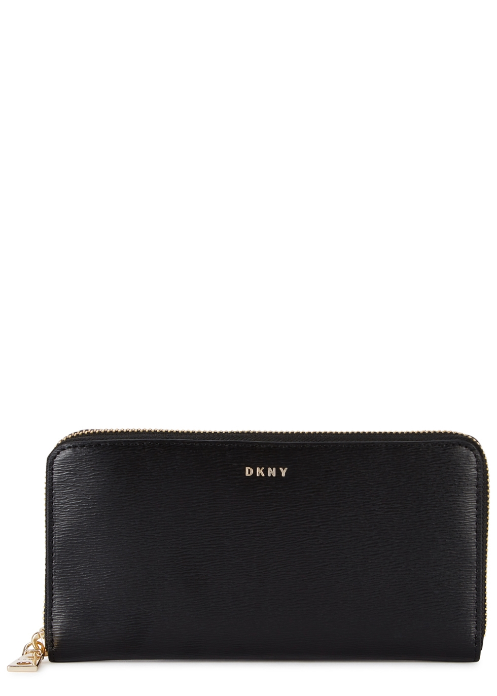 DKNY BRYANT BLACK LEATHER WALLET