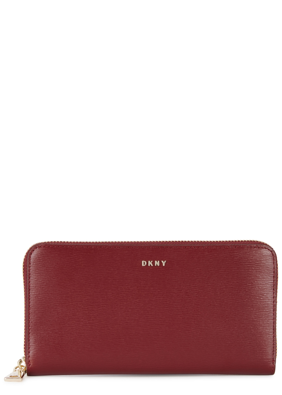 DKNY BRYANT BURGUNDY LEATHER WALLET