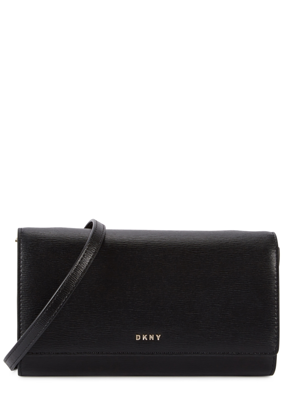 DKNY BRYANT BLACK LEATHER CLUTCH