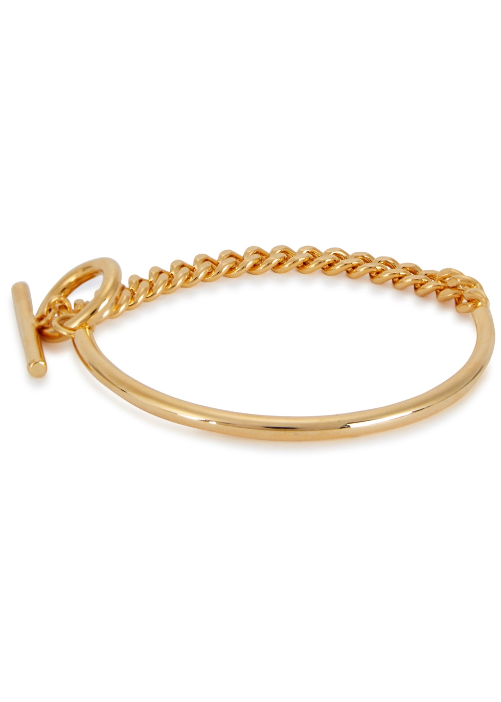 FALLON CURB GOLD CHAIN CUFF