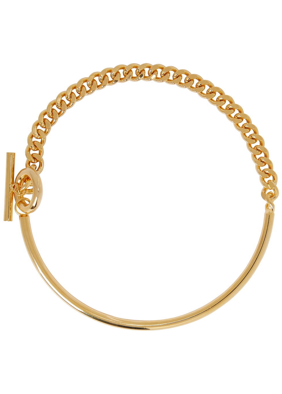 FALLON CURB GOLD CHAIN COLLAR