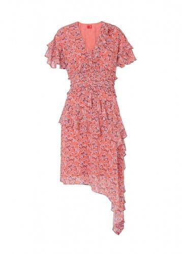KITRI HARLEY PRINT FRILL MINI DRESS