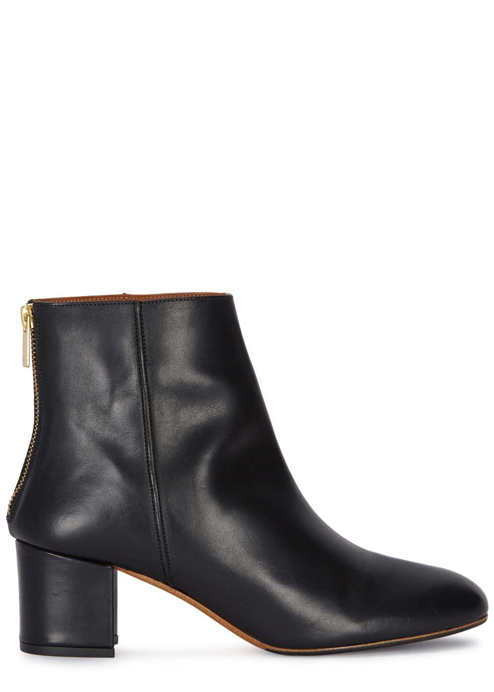 Mei 50 black leather ankle boots - ATP Atelier