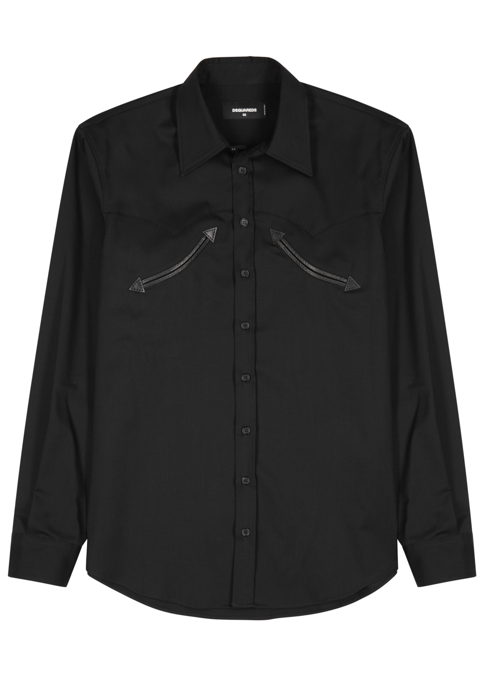 DSQUARED2 DISCO WESTERN BLACK TWILL SHIRT