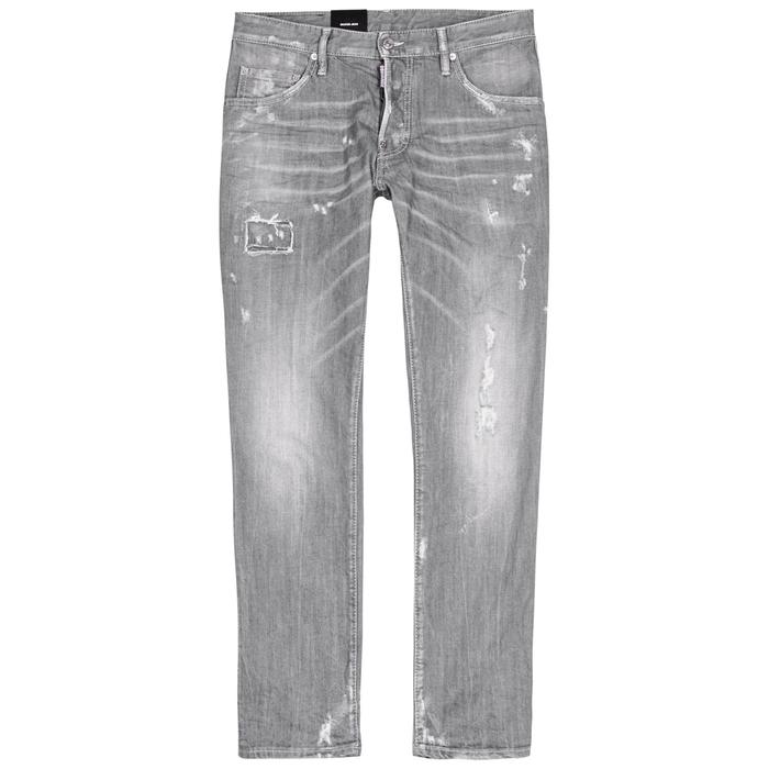 DSQUARED2 Skater Grey Distressed Skinny Jeans