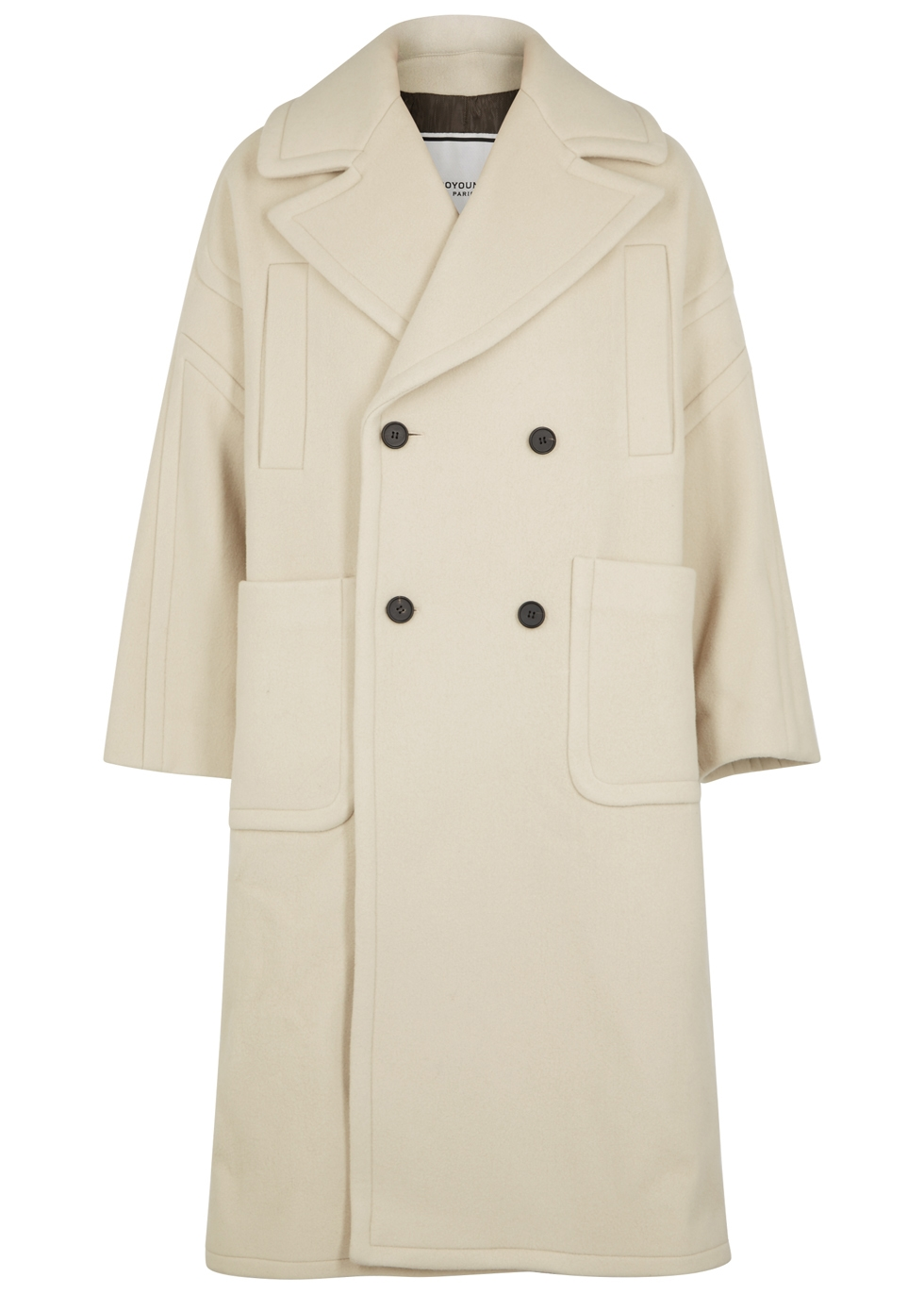 WOOYOUNGMI Classic Oversized Lapelled Coat in White