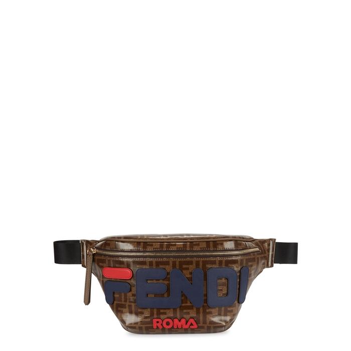 fbdcc1eb319 Fendi X Fila Monogrammed Belt Bag In Multicoloured   ModeSens