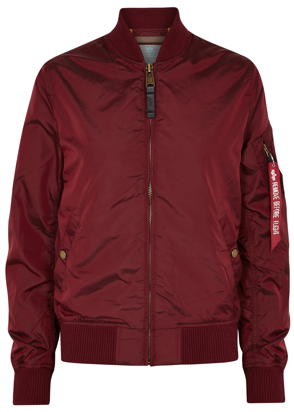 Ma1-Tt Bordeaux Bomber Jacket in Burgundy