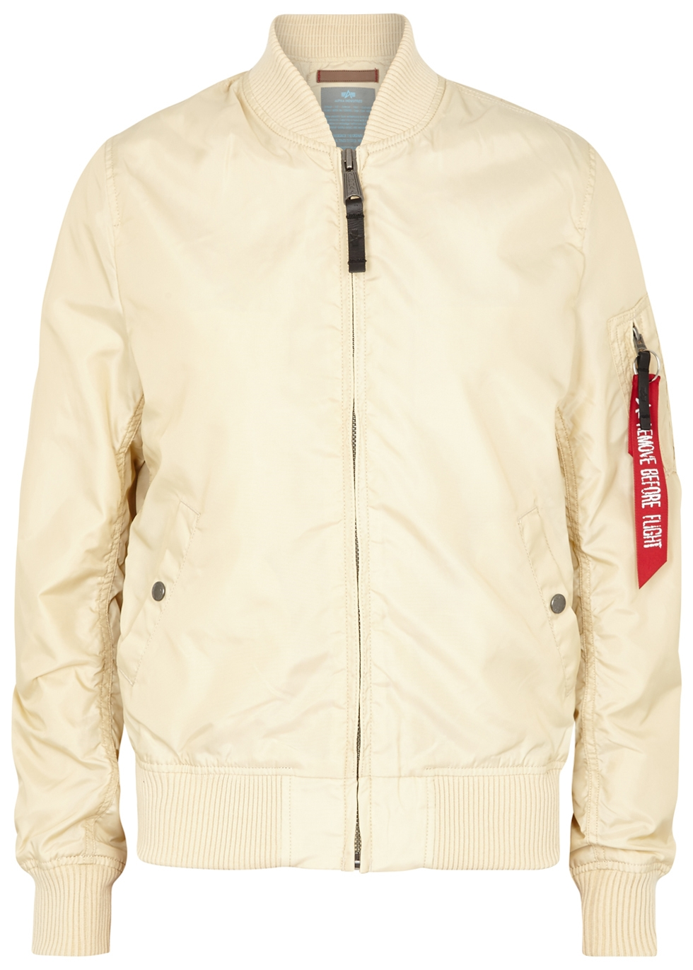 Ma1-Tt Ecru Bomber Jacket in Cream
