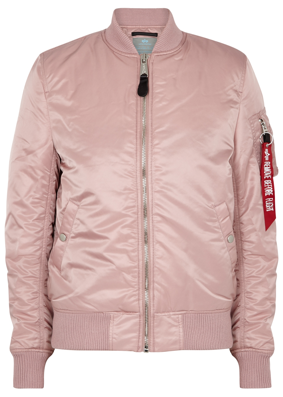 Ma1-Vf Blush Shell Bomber Jacket in Light Pink