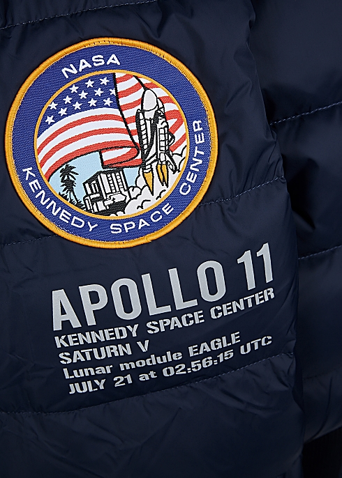 4c1e48b11 Alpha Industries Apollo 11 navy quilted shell jacket - Harvey Nichols