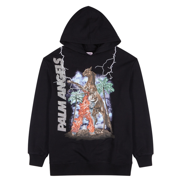 Palm Angels Burning Cowboy Cotton Sweatshirt